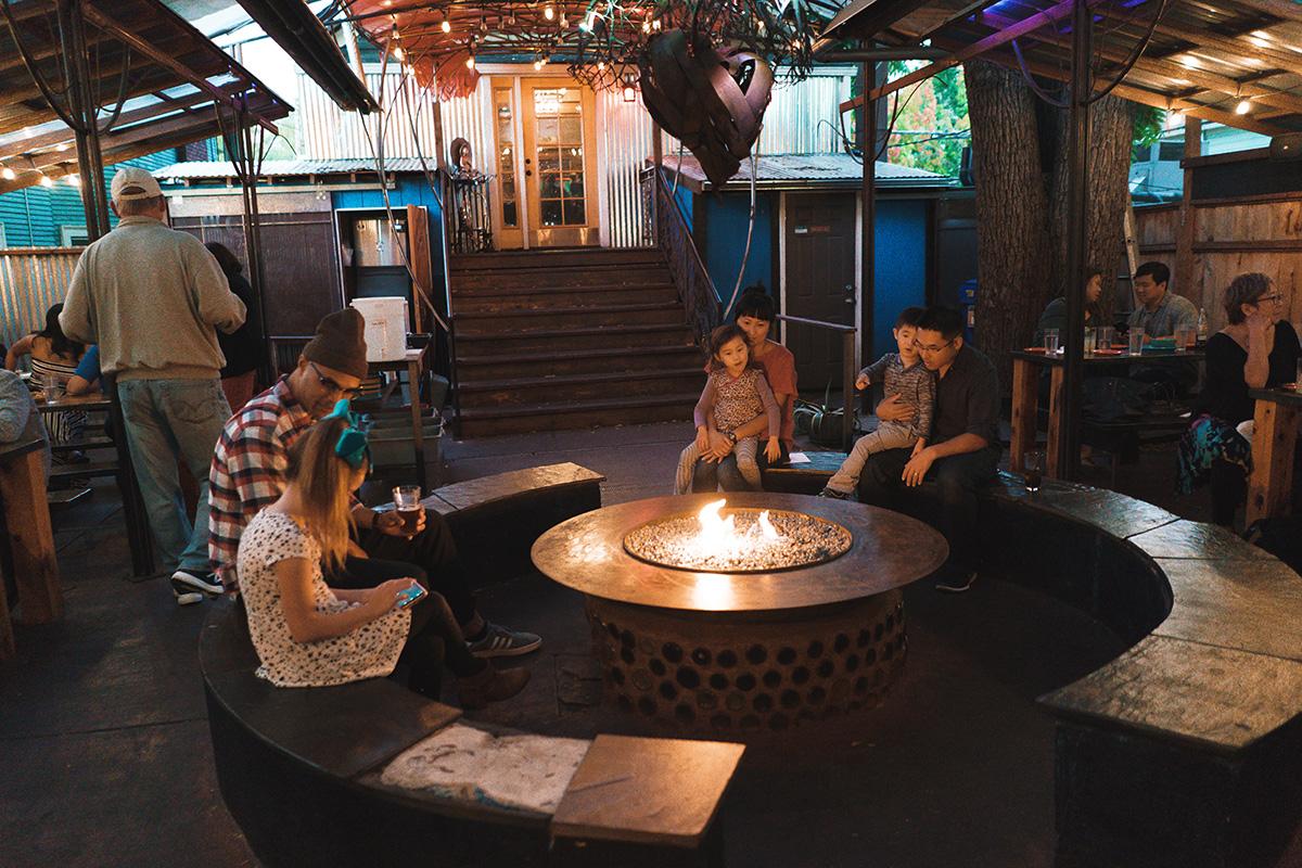 TEOTE House Café firepit